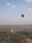 Floating over Temple