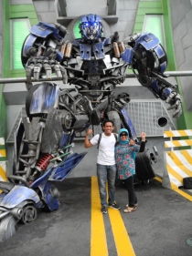Pose in front of the robot