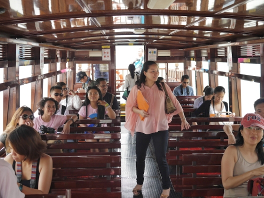 Inside the bumboat