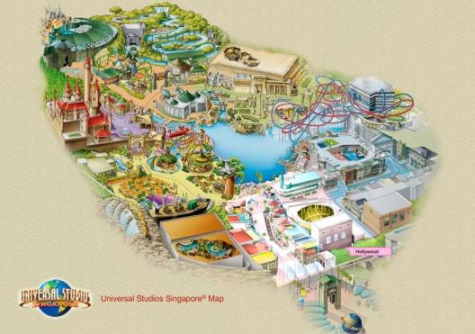 Universal Studios Singapore Map