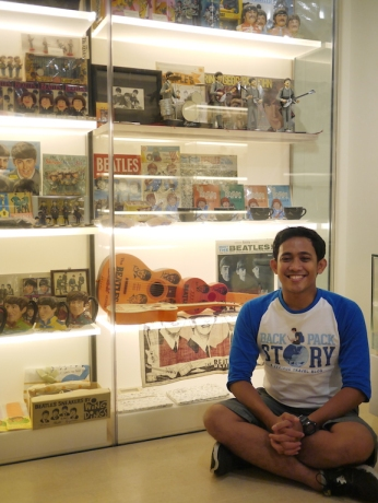 Collectible items of The Beatles at MINT Museum, Singapore