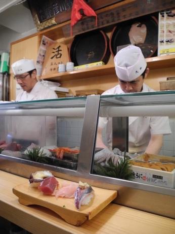 Sushi at Tsukiji Fish Market