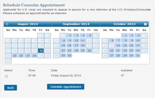 Tanggal Wawancara Visa