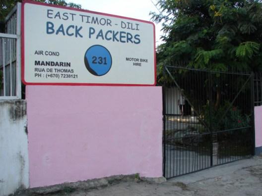 East Timor Dili Backpackers Hostel