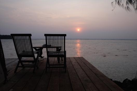 Sunset di Pulau Macan