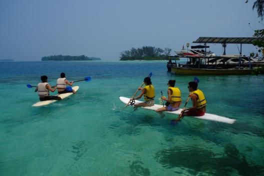 Canoeing di Pulau Macan
