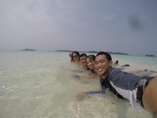 Groufie at Pulau Macan