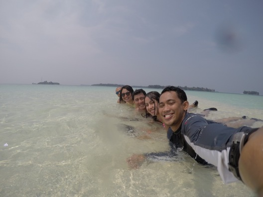 Groufie at Pulau Macan