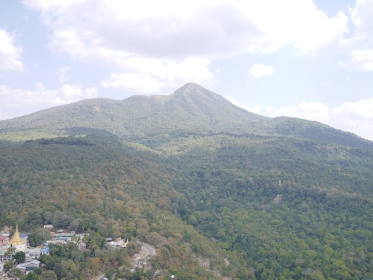From the top of Mount Popa