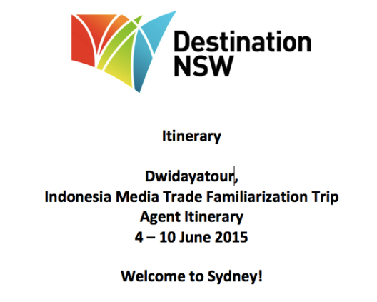 Itinerary DNSW