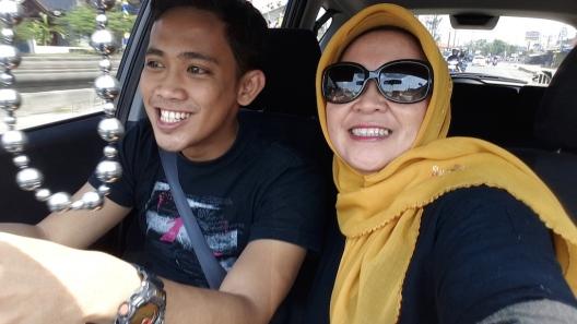 Selfie dalam mobil