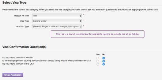 Aplikasi online visa Inggris