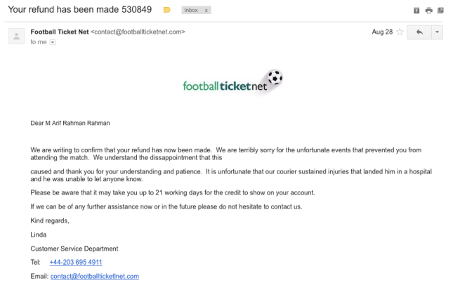 Football Ticket Net Scam