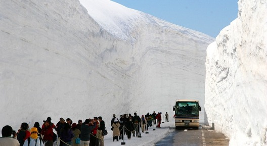 Alpen Route Snow Wall