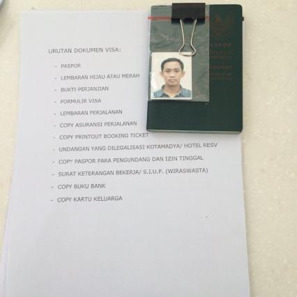 Dokumen Visa Schengen