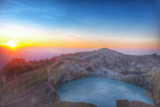 Sunrise at Kelimutu
