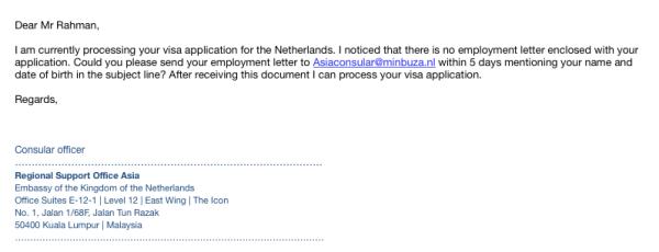 Email Konsular Belanda