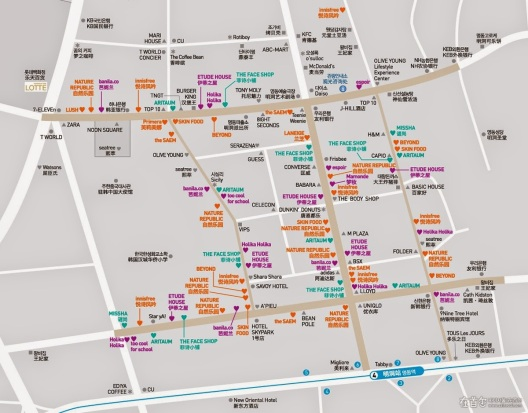 Myeongdong Map