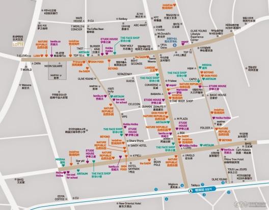 Myeongdong Map