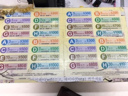 Tarif SIM Card Taiwan