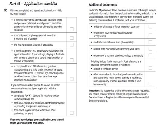 Formulir Visa Australia