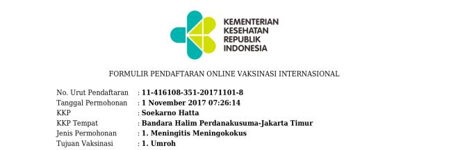 Panduan Suntik Vaksin Meningitis Di Kkp Halim Jakarta