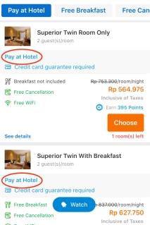 Traveloka Pay at Hotel