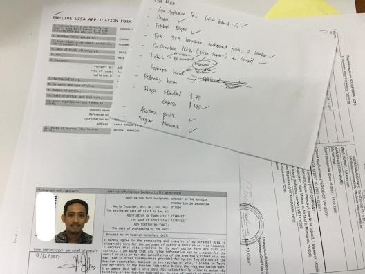 Mengurus Visa Rusia