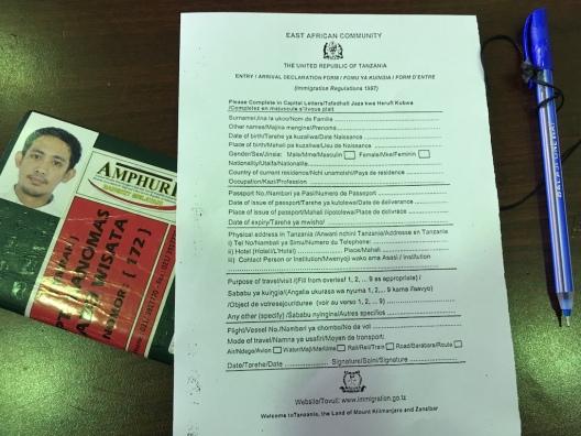 Arrival Declaration Form Tanzania
