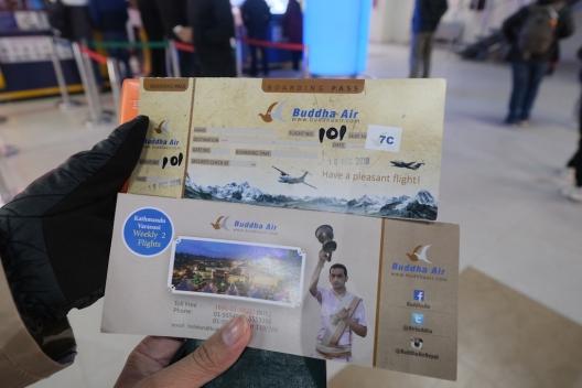 Tiket Fisik Buddha Air