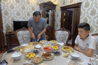 Dinner with Uzbekistan Family
