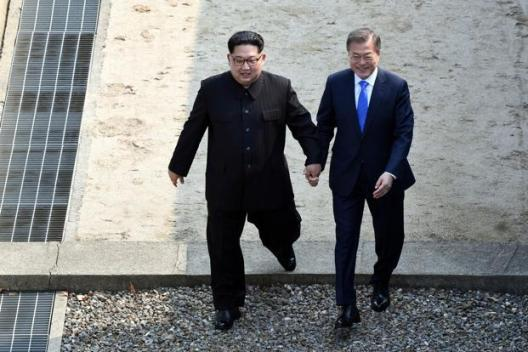 North Korean Kim Jong Un meets South Korea's Moon in historic summit