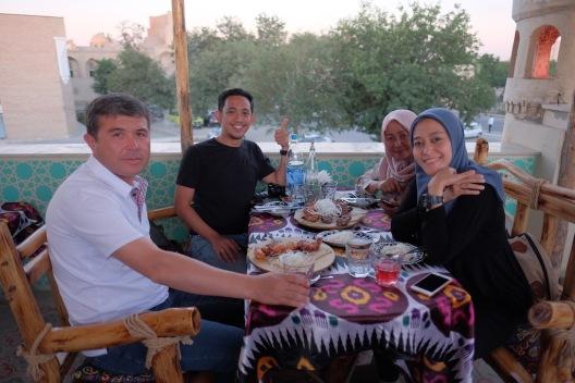 Lunch in Uzbekistan