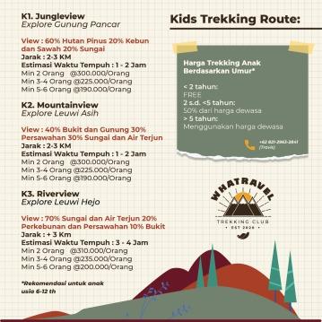 Pricelist Whatravel Trekking Club